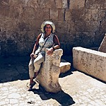 On a gazelle, Jerash | Photo taken by Mia F