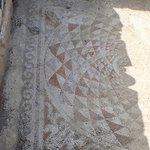 Mosaic at Um Qais | Photo taken by fern k