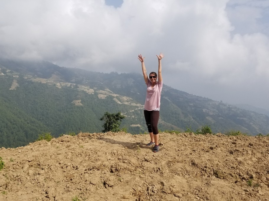 """The view after a Nepali """"hike"""" 