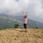"The view after a Nepali ""hike"" 