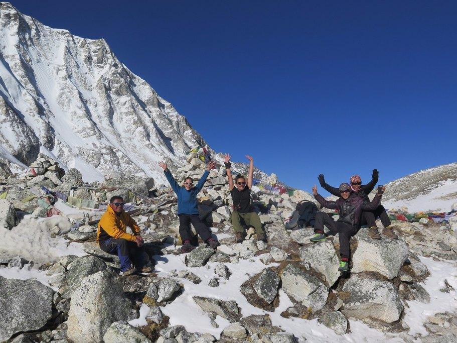Larkya La pass - proud moment at 5160m | Photo taken by Anna W