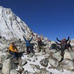 Larkya La pass - proud moment at 5160m | Photo taken by Anna W