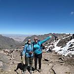 Kristin and Caro at the summit of Lares | Photo taken by Kristin M