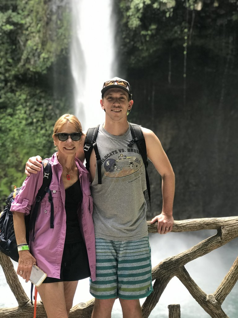 Susan and Justin at the base of La Fortuna Waterfall | Photo taken by Rachel H