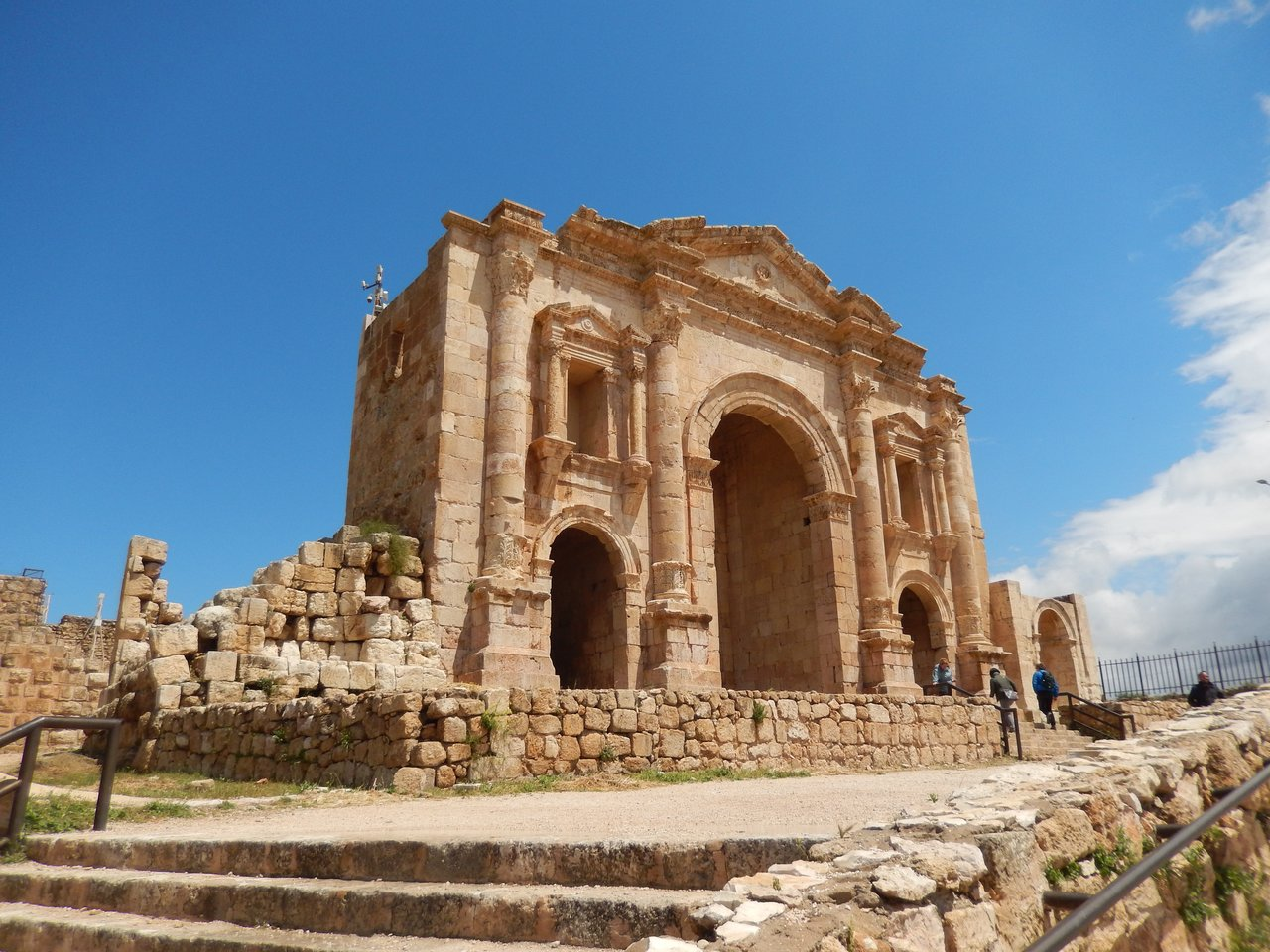 Hadrian's Arch, Jerash | Photo taken by Linley V