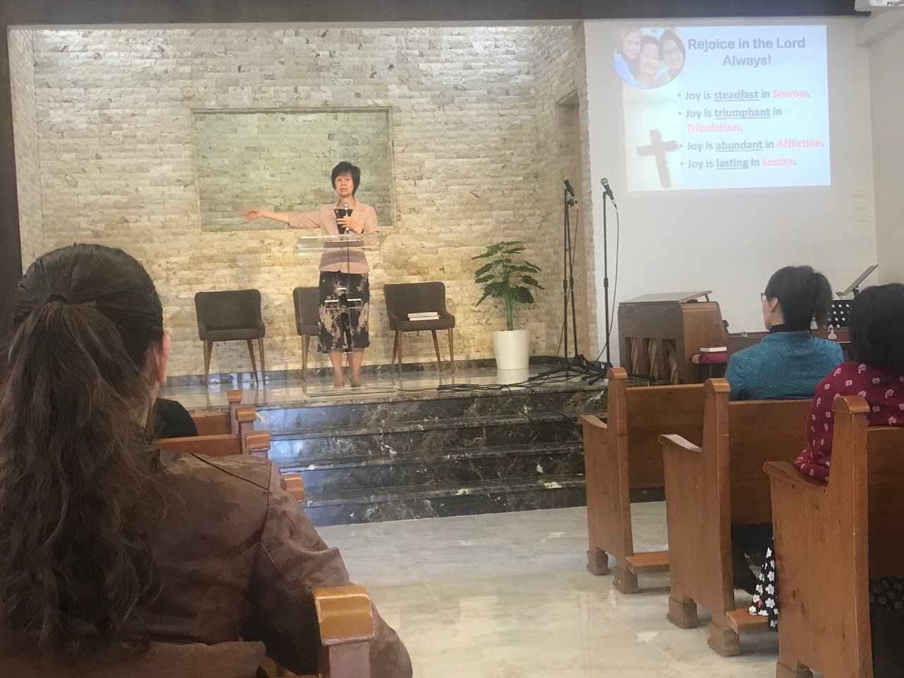 Dr Linda Koh, the Children's Ministry Director for the General Conference of SDAs, took the church service.. | Photo taken by Linley V