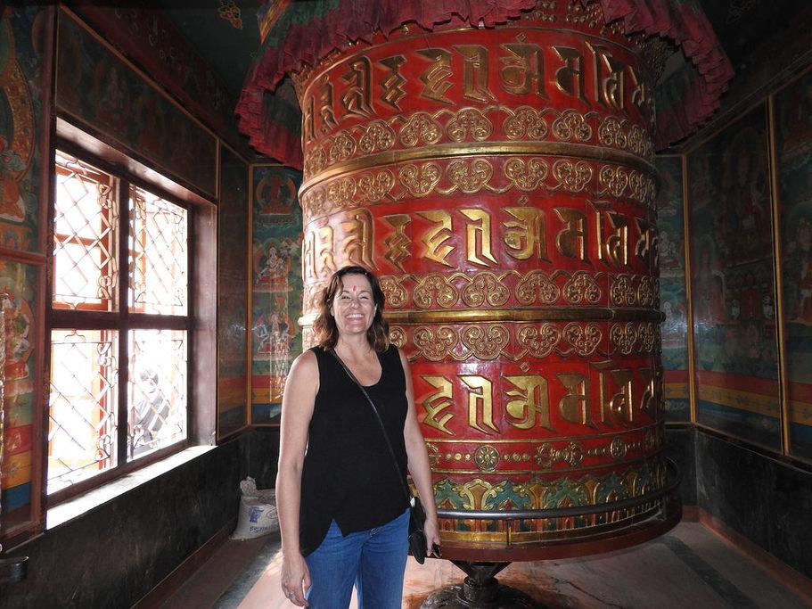 Prayer wheel at a Tibetan monastery | Photo taken by Kim C