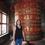 Prayer wheel at a Tibetan monastery | Photo taken by Kim C