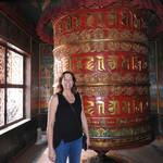 Prayer wheel at a Tibetan monastery | Photo taken by Kim Coutts