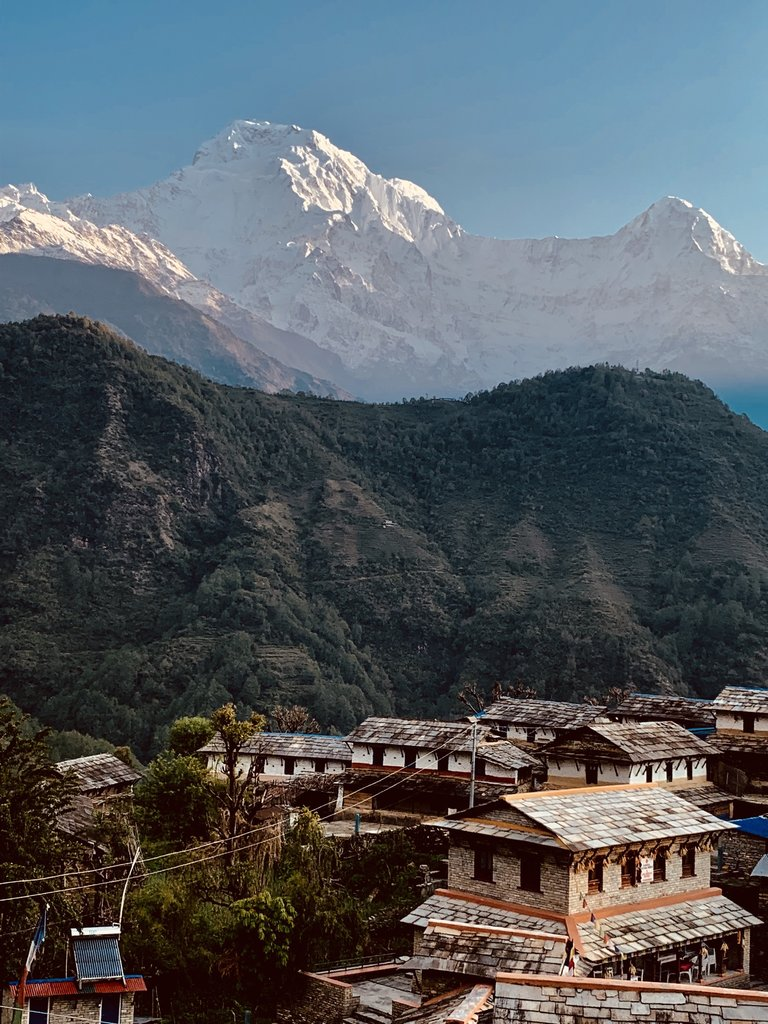 View from the guesthouse in Ghandruk | Photo taken by Ziyad H
