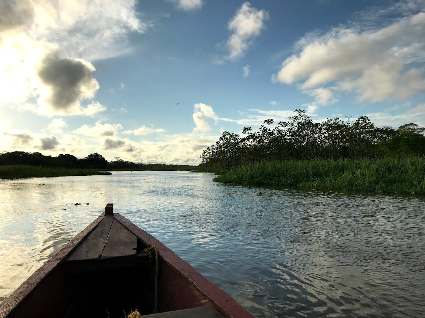 On the river to see the pink dolphins and Mocagua Island | Photo taken by Sophie E