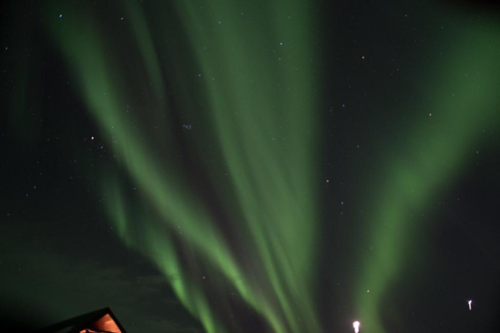 Northern Lights over Hotel Ranga | Photo taken by Kristin C