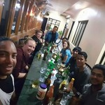Dinner together with the guides and porters! Great night | Photo taken by Kim S