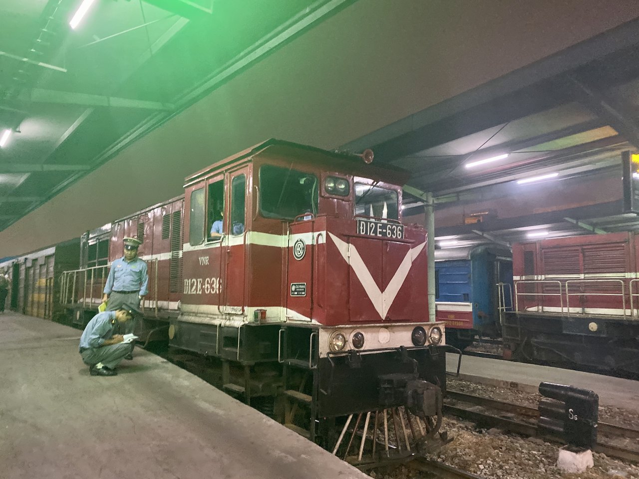 Our train is here to take us to Lao Cai! We can't wait to visit Sapa!   Photo taken by Su-Lin T