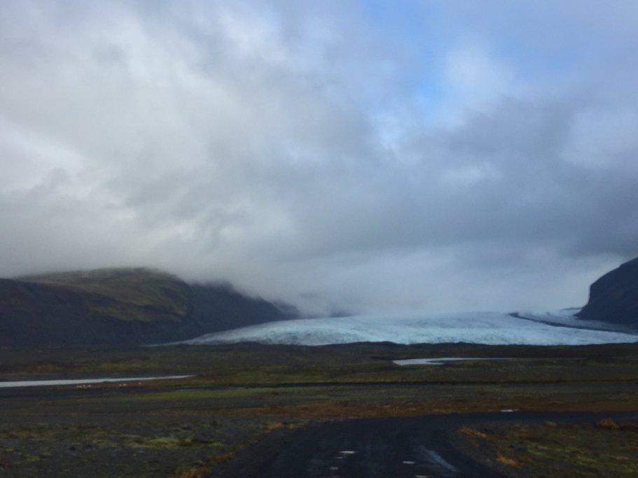 Glaciers that look like waves | Photo taken by Marisa K