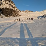 Hiking the glacier | Photo taken by Jennifer D