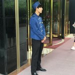 Porter at hotel in Shanghai  | Photo taken by Gary C