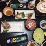 Set dinner at ryokan, Kinugawa-Onsen | Photo taken by Sam D