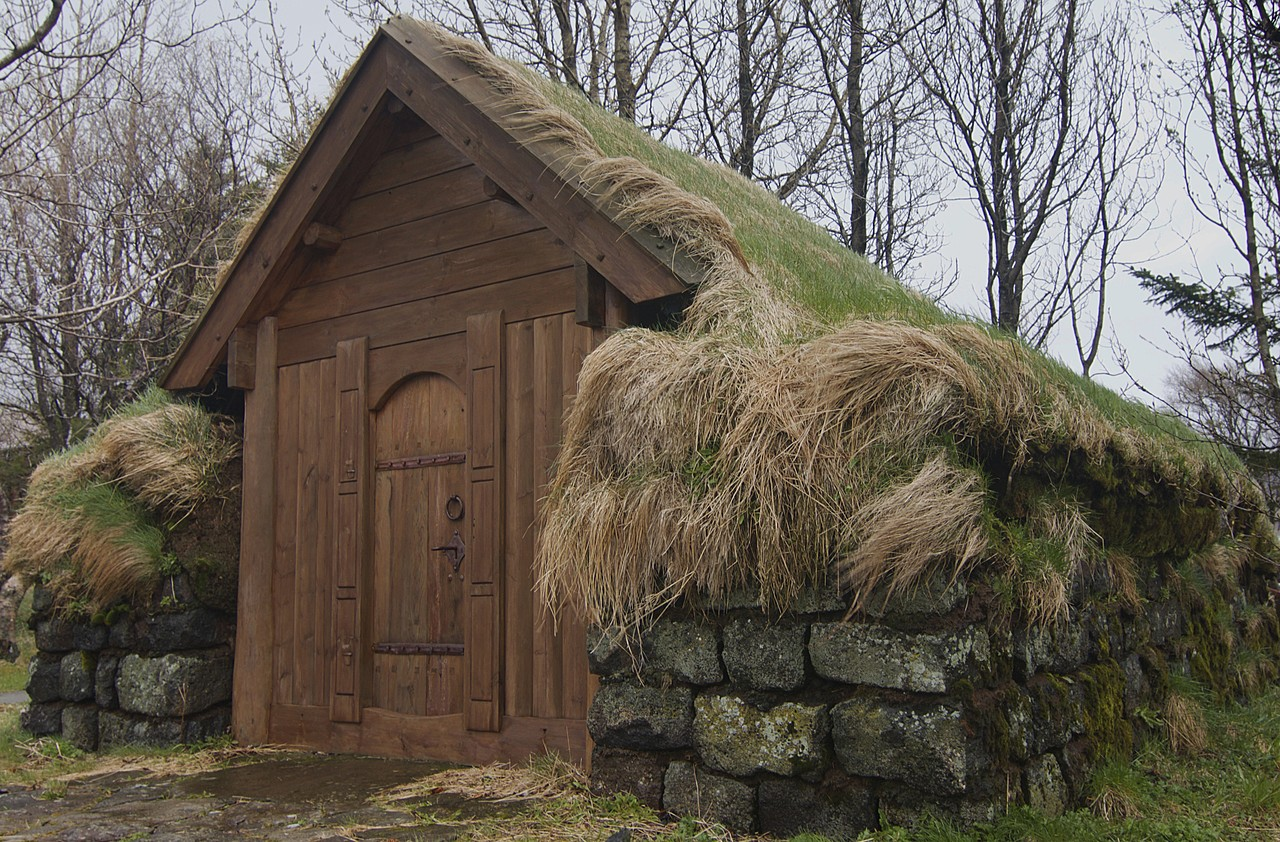 turf roof house.   Photo taken by Kim C
