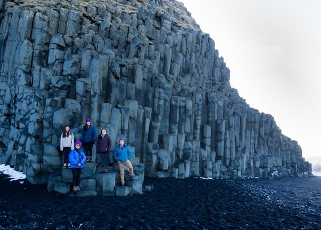 Basalt columns near Vik | Photo taken by Grace L