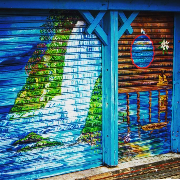 Chiloé street art | Photo taken by Beth S