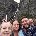 Awesome waterfalls along the way in the Sognefjord | Photo taken by Mark M