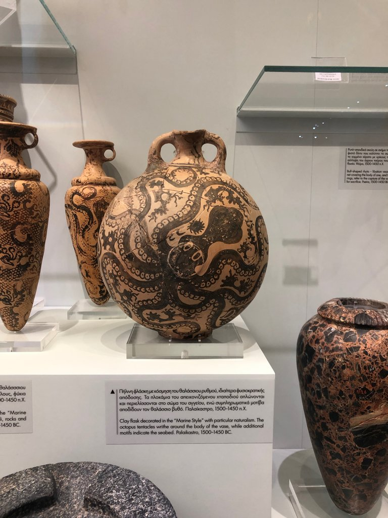 One of the octopus urns | Photo taken by Rebecca R