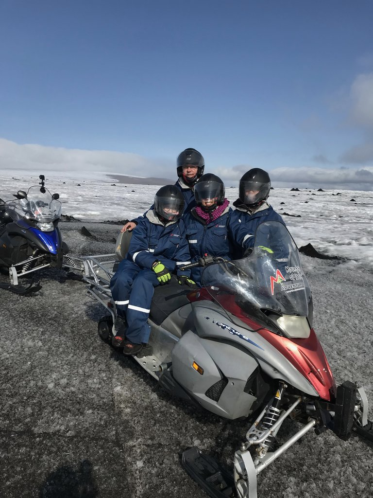 glacier snowmobiling | Photo taken by John B