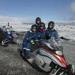 glacier snowmobiling | Photo taken by John B