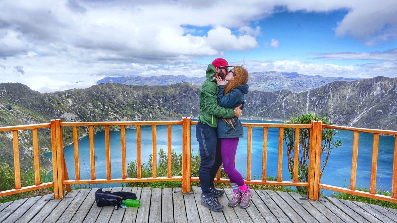 Proposal at Lake Quilotoa | Photo taken by Marsha S