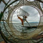 Inle Lake net fisherman, always wanted to take pictures of them. | Photo taken by Tack S