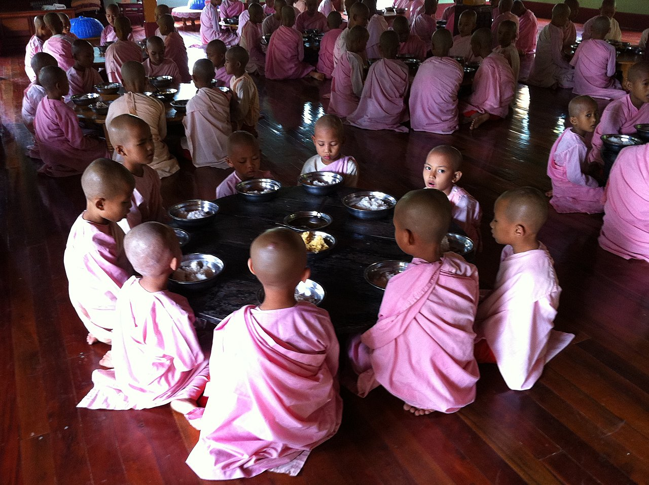 Novices waiting to begin lunch. | Photo taken by Rodney S