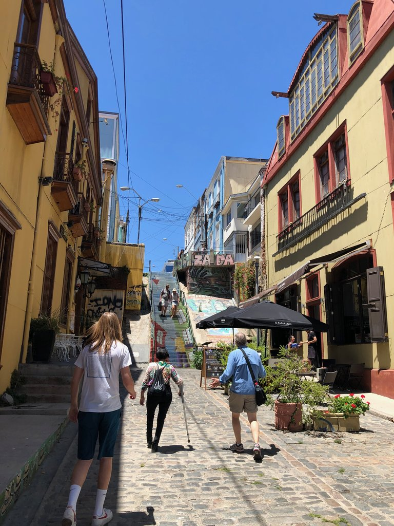 Walking the streets of Valparaiso | Photo taken by Melody B