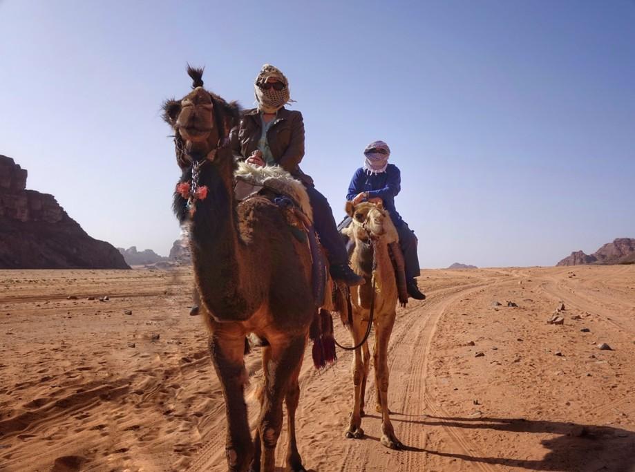 Camel ride/ Wadi Rum | Photo taken by Gerelyn G