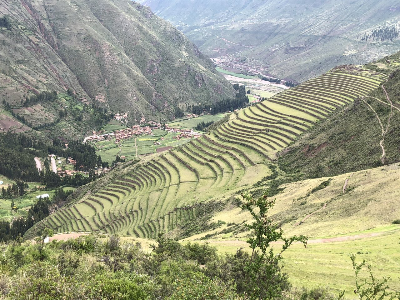 Pisac terraces - the condor and the burial grounds | Photo taken by Susan D