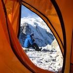 Morning tea at Mera-La (Camp 1)   Photo taken by Kelly P