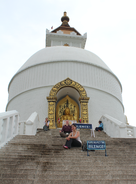 Pokhara Shanti Stupa | Photo taken by Ana R