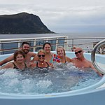 All relaxing in the hottub, taking in the amazing views | Photo taken by Mark M