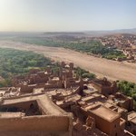 Aït Benhaddou. Ancient kasbahs in a fortress village | Photo taken by Rod K