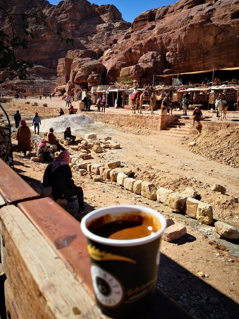 Coffee in Petra | Photo taken by TC K