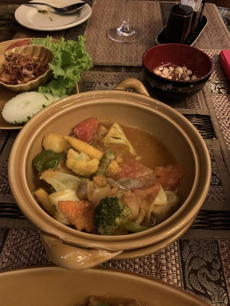 Dinner at Bagan King Hotel Mandalay | Photo taken by Bonnie S