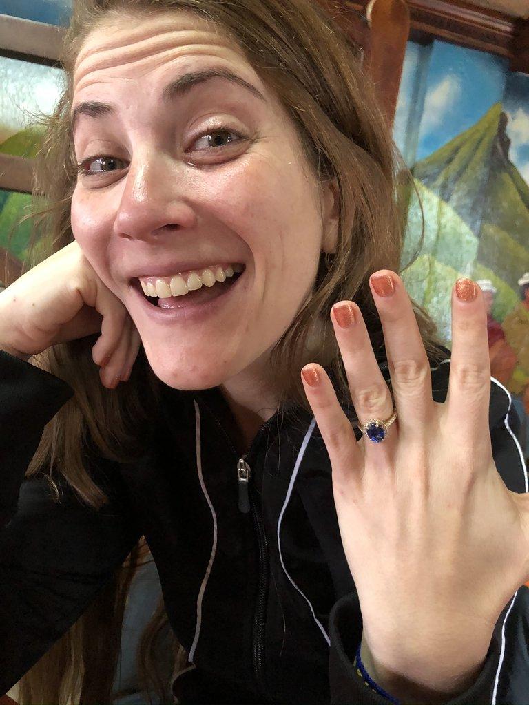 Engaged!! | Photo taken by Marsha S