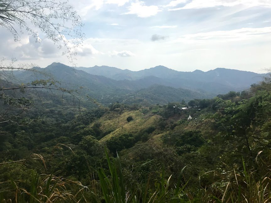 The view on our way up to the cacao farm | Photo taken by Sophie E