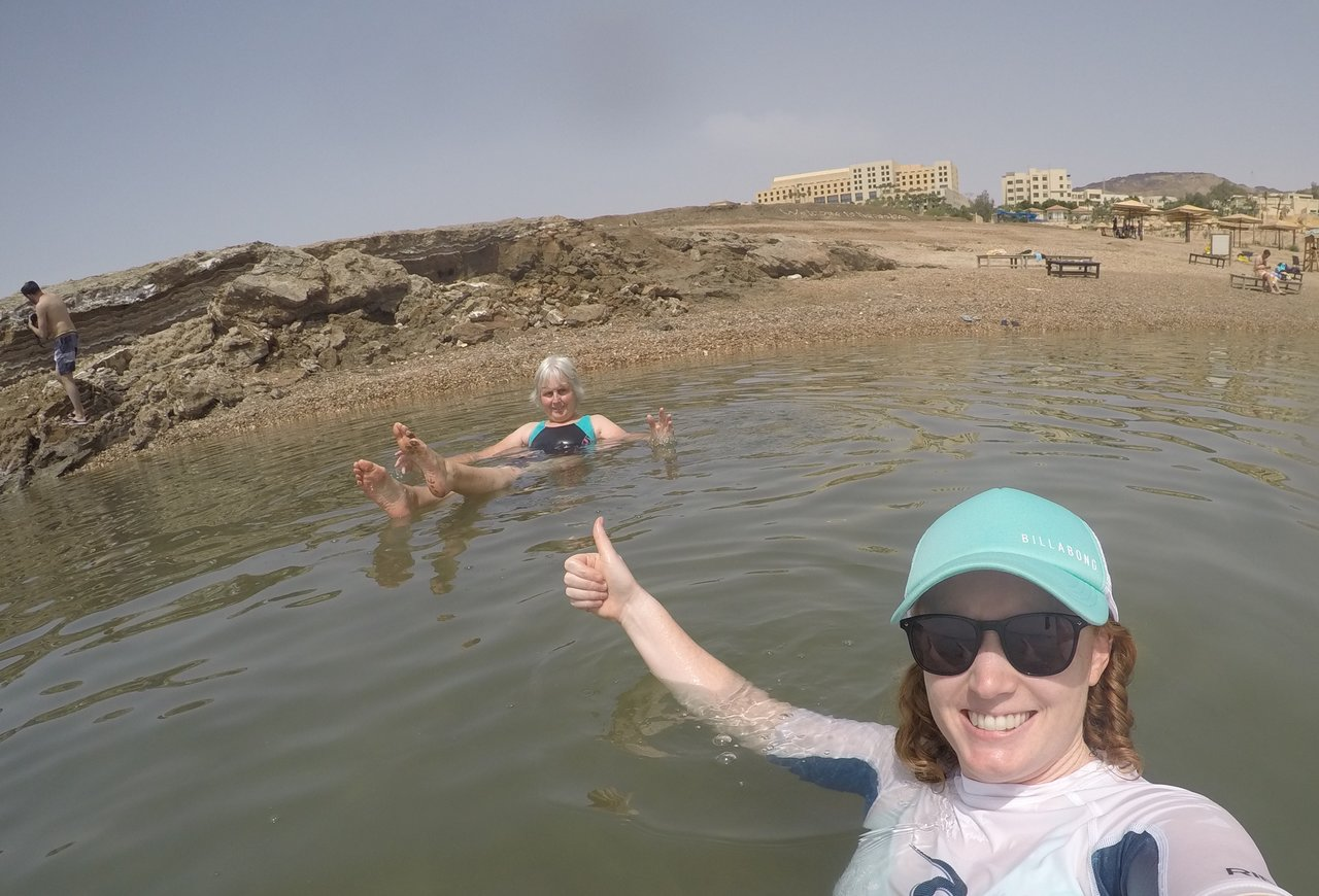 Floating in the Dead Sea | Photo taken by Sara P