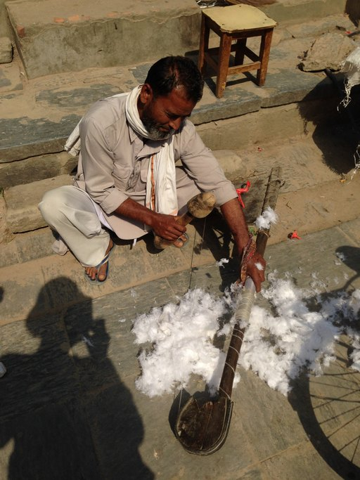 Cotton demonstration | Photo taken by Gill M