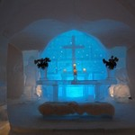 Sorrisniva Ice Hotel chapel | Photo taken by Timothy H