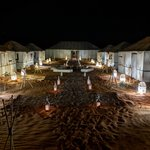 Luxury Camp Chebbi at night | Photo taken by Jordan A