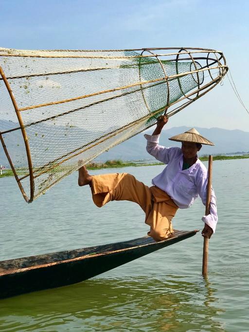 Fisherman, Inle Lake | Photo taken by Tim K