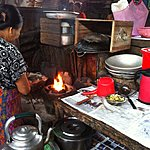 Charcoal cooking | Photo taken by Rodney S