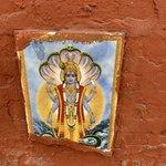 on the wall around Kathmandu's Narayanhiti Palace Museum | Photo taken by Caroline R